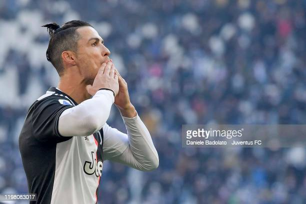 Cristiano Ronaldo of Juventus celebrates after scoring the goal of 2-0 during the Serie A match between Juventus and ACF Fiorentina at Allianz...