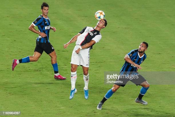 Cristiano Ronaldo of Juventus competes for the ball during the International Champions Cup match between Juventus and FC Internazionale at the...