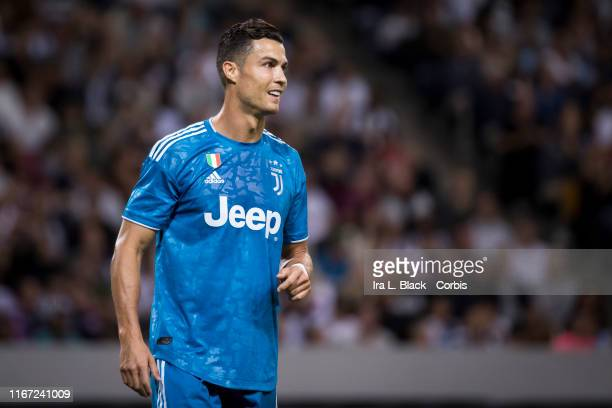 Cristiano Ronaldo of Juventus during the international Champions Cup Friendly match between Atletico de Madrid and Juventus FC The match was held at...