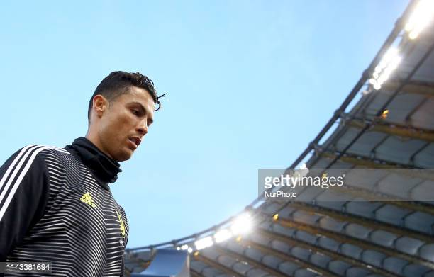 Cristiano Ronaldo of Juventus during the Italian Serie A football match AS Roma v Fc Juventus at the Olimpico Stadium in Rome Italy on May 12 2019