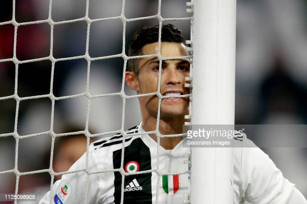 Cristiano Ronaldo of Juventus during the Italian Serie A match between Juventus v Frosinone at the Allianz Stadium on February 15 2019 in Turin Italy