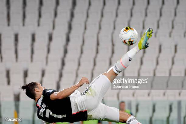 Cristiano Ronaldo of Juventus during the Italian Serie A match between Juventus v Lecce at the Allianz Stadium on June 26, 2020 in Turin Italy