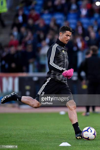 Cristiano Ronaldo of Juventus during the Serie A match between Roma and Juventus at Stadio Olimpico Rome Italy on 12 May 2019