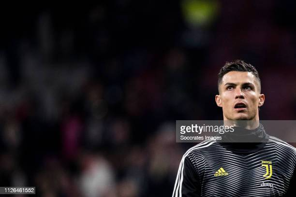 Cristiano Ronaldo of Juventus during the UEFA Champions League match between Atletico Madrid v Juventus at the Estadio Wanda Metropolitano on...