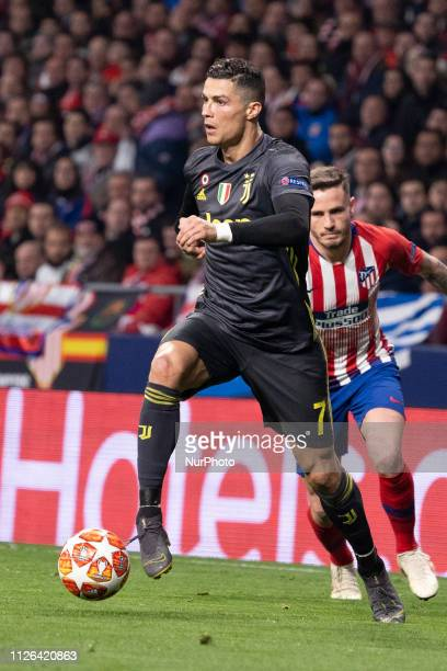 Cristiano Ronaldo of Juventus during UEFA Champions League round of 16 soccer match between Atletico Madrid and Juventus at Wanda Metropolitano...