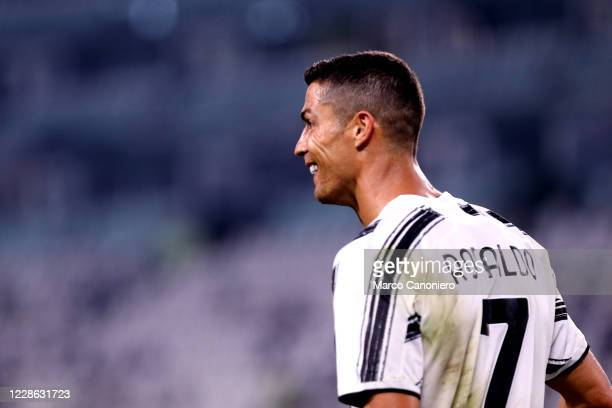 Cristiano Ronaldo of Juventus FC celebrates after scoring a goal during the Serie A match between Juventus Fc and Uc Sampdoria Juventus Fc wins 30...