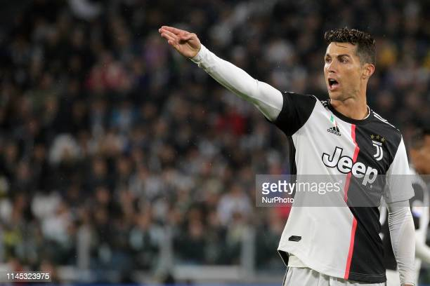 Cristiano Ronaldo of Juventus FC during the serie A match between Juventus FC and Atalanta BC at Allianz Stadium on May 19 2019 in Turin Italy