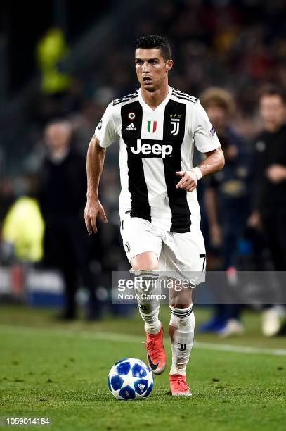 Cristiano Ronaldo of Juventus FC in action during the Group H football match of the UEFA Champions League between Juventus FC and Manchester United...