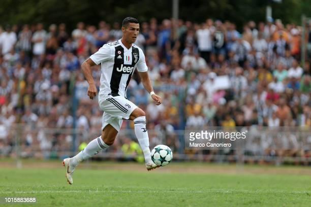 Cristiano Ronaldo of Juventus FC in action during the preseason friendly match between Juventus and Juventus U19