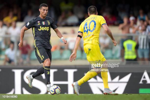 Cristiano Ronaldo of Juventus FC in action during the Serie A football match between AC ChievoVerona and Juventus FC Juventus FC won 32 over AC...