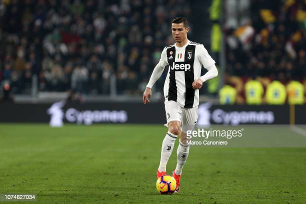 Cristiano Ronaldo of Juventus FC in action during the Serie A football match between Juventus Fc and As Roma Juventus Fc wins 10 over As Roma