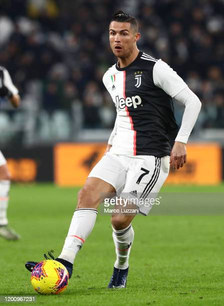 Cristiano Ronaldo of Juventus FC in action during the Serie A match between Juventus and Parma Calcio at Allianz Stadium on January 19 2020 in Turin...