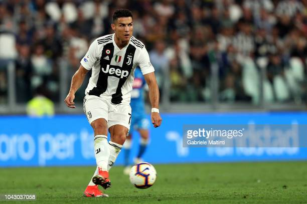 Cristiano Ronaldo of Juventus FC in action during the Srie A match between Juventus and SSC Napoli at Allianz Stadium on September 29 2018 in Turin...