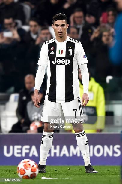 Cristiano Ronaldo of Juventus FC in action during UEFA Champions League Round of 16 second leg football match between Juventus FC and Club Atletico...