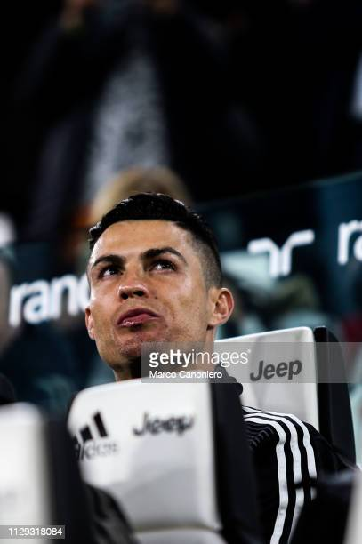 Cristiano Ronaldo of Juventus FC looks on before the Serie A football match between Juventus Fc and Udinese Calcio Juventus won the match 4 goals to 1