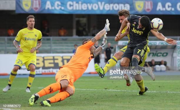 Cristiano Ronaldo of Juventus FC misses a chance of goal during the serie A match between Chievo Verona and Juventus at Stadio Marc'Antonio Bentegodi...