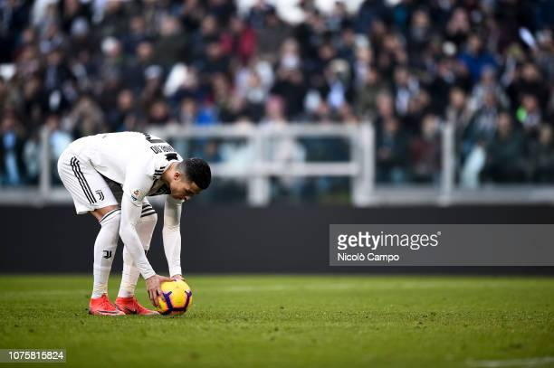 Cristiano Ronaldo of Juventus FC prepares for penalty kick during the Serie A football match between Juventus FC and UC Sampdoria Juventus FC won 21...