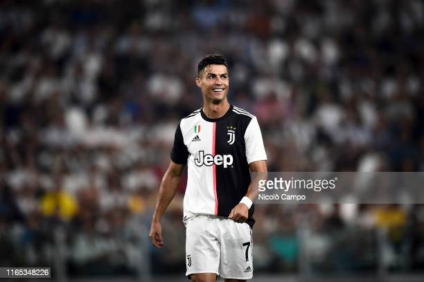 Cristiano Ronaldo of Juventus FC smiles during the Serie A football match between Juventus FC and SSC Napoli Juventus FC won 43 over SSC Napoli