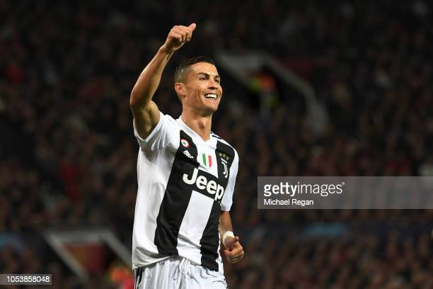 Cristiano Ronaldo of Juventus in action during the Group H match of the UEFA Champions League between Manchester United and Juventus at Old Trafford...