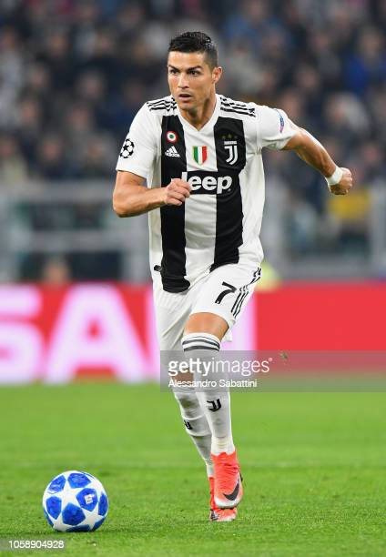 Cristiano Ronaldo of Juventus in action during the Group H match of the UEFA Champions League between Juventus and Manchester United at Juventus...