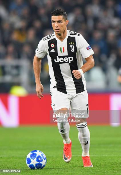 Cristiano Ronaldo of Juventus in action during the Group H match of the UEFA Champions League between Juventus and Manchester United at on November...