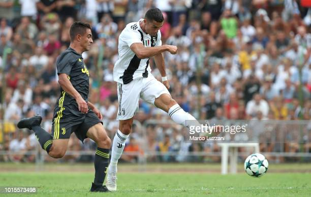 Cristiano Ronaldo of Juventus in action during the PreSeason Friendly match between Juventus and Juventus U19 on August 12 2018 in Villar Perosa Italy