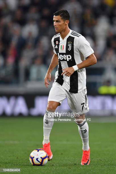 Cristiano Ronaldo of Juventus in action during the serie A match between Juventus and Bologna FC on September 26 2018 in Turin Italy