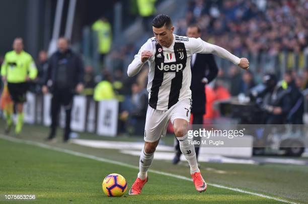 Cristiano Ronaldo of Juventus in action during the Serie A match between Juventus and UC Sampdoria on December 29 2018 in Turin Italy
