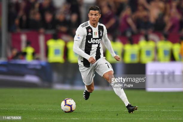 Cristiano Ronaldo of Juventus in action during the Serie A match between Juventus and Torino FC on May 03 2019 in Turin Italy