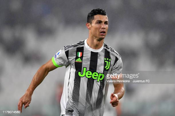 Cristiano Ronaldo of Juventus in action during the Serie A match between Juventus and Genoa CFC at Allianz Stadium on October 30 2019 in Turin Italy
