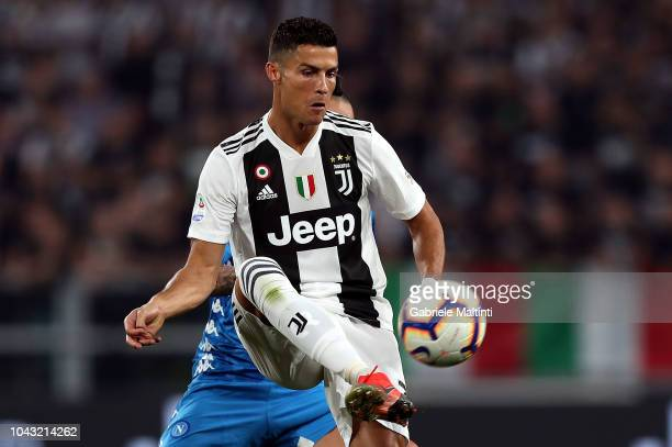 Cristiano Ronaldo of Juventus in action during the Srie A match between Juventus and SSC Napoli at Allianz Stadium on September 29 2018 in Turin Italy