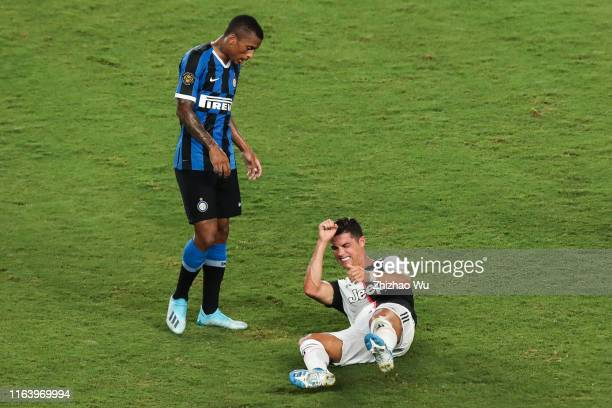Cristiano Ronaldo of Juventus injured during the International Champions Cup match between Juventus and FC Internazionale at the Nanjing Olympic...