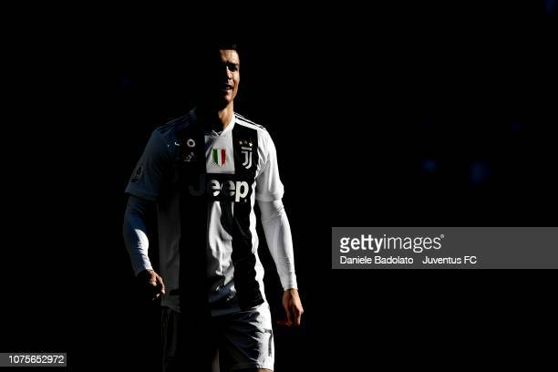 Cristiano Ronaldo of Juventus looks on during the Serie A match between Juventus and UC Sampdoria on December 29 2018 in Turin Italy