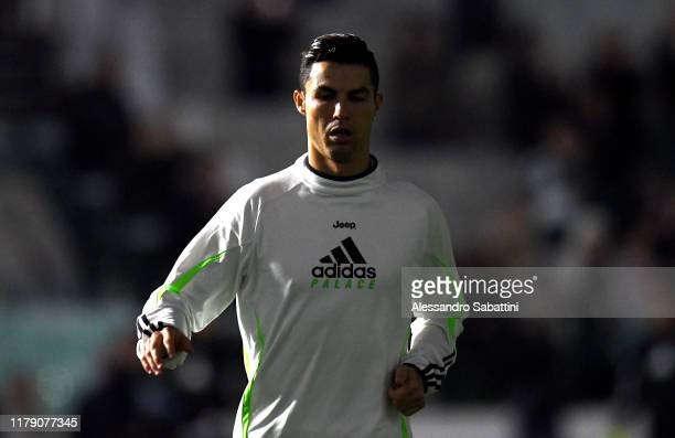 Cristiano Ronaldo of Juventus looks on during the Serie A match between Juventus and Genoa CFC at on October 30 2019 in Turin Italy