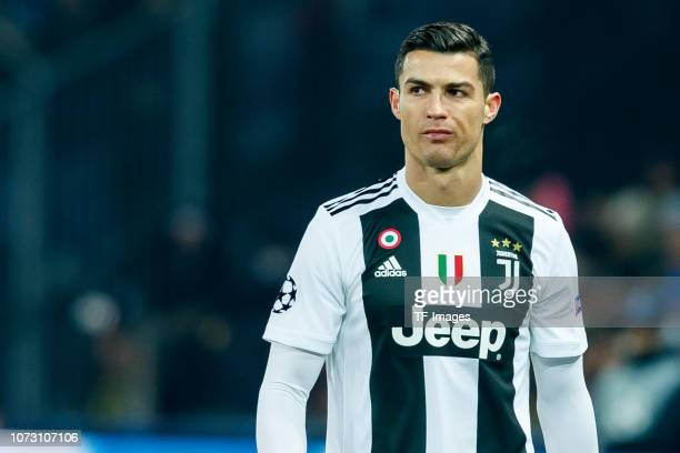 Cristiano Ronaldo of Juventus looks on during the UEFA Champions League Group H match between BSC Young Boys and Juventus at Stade de Suisse,...