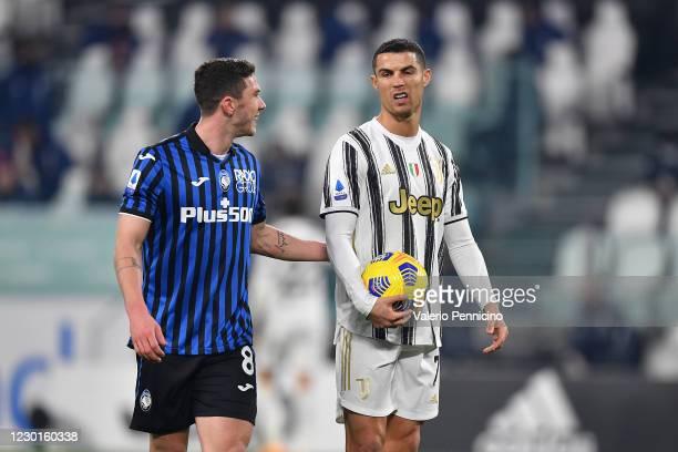 Cristiano Ronaldo of Juventus reacts before kicks a penalty during the Serie A match between Juventus and Atalanta BC at Allianz Stadium on December...
