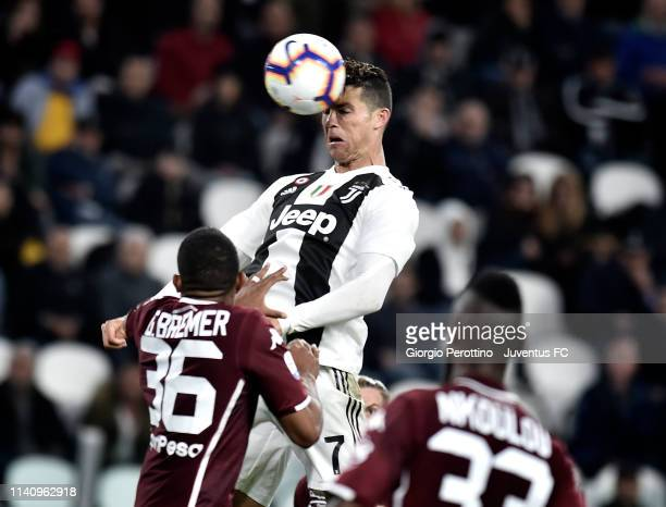 Cristiano Ronaldo of Juventus scores the goal of 11 during the Serie A match between Juventus and Torino FC on May 3 2019 in Turin Italy