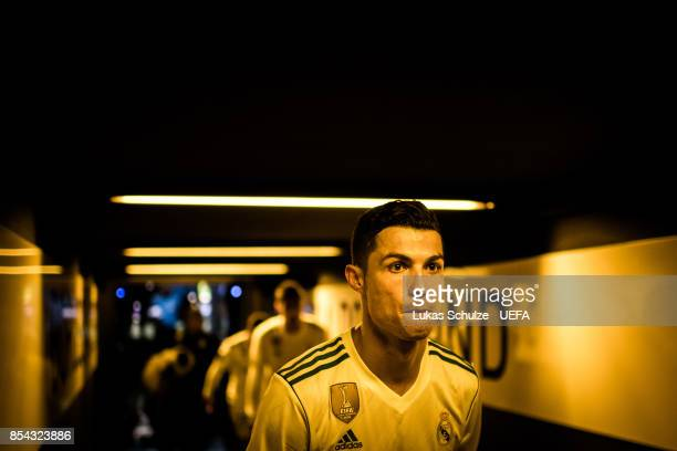 Cristiano Ronaldo of Madrid is seen in the player tunnel after winning the UEFA Champions League group H match between Borussia Dortmund and Real...