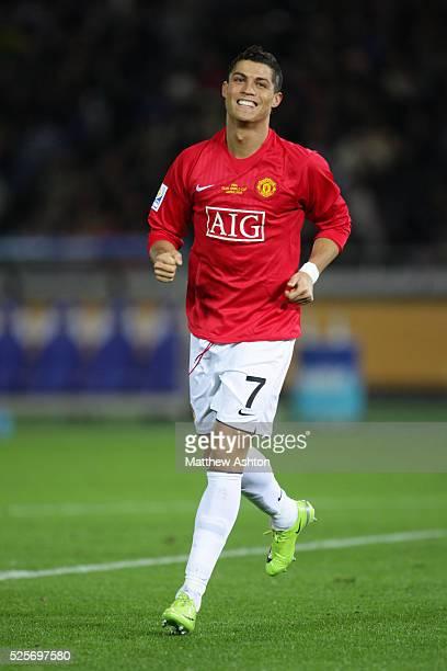 Cristiano Ronaldo of Manchester United celebrates after scoring to make it 02