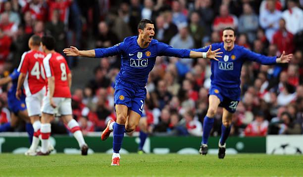 arsenal v manchester united uefa champions league semi finalの写真