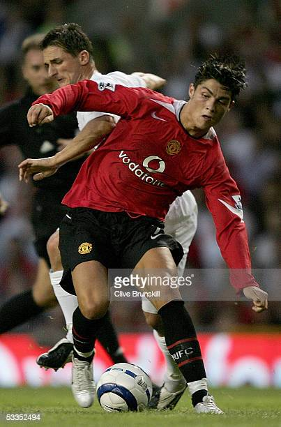 Cristiano Ronaldo of Manchester United during the Champions League third qualifying round first leg match between Manchester United and Debreceni VSC...