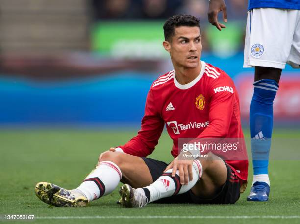 Cristiano Ronaldo of Manchester United during the Premier League match between Leicester City and Manchester United at The King Power Stadium on...