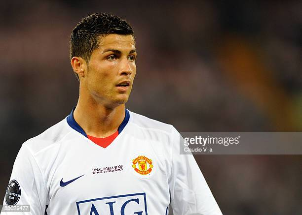 Cristiano Ronaldo of Manchester United during the UEFA Champions League Final match between Barcelona and Manchester United at the Stadio Olimpico on...