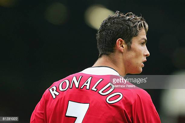Cristiano Ronaldo of Manchester United in action during the Barclays Premiership match between Blackburn Rovers and Manchester United Ewood Park on...