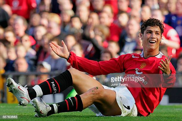 Cristiano Ronaldo of Manchester United in action during the Barclays Premiership match between Manchester United and Blackburn Rovers at Old Trafford...