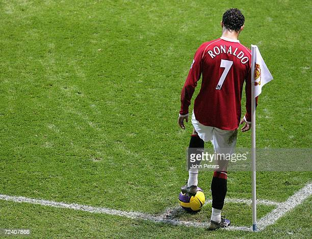Cristiano Ronaldo of Manchester United in action during the Barclays Premiership match between Manchester United and Portsmouth at Old Trafford on...
