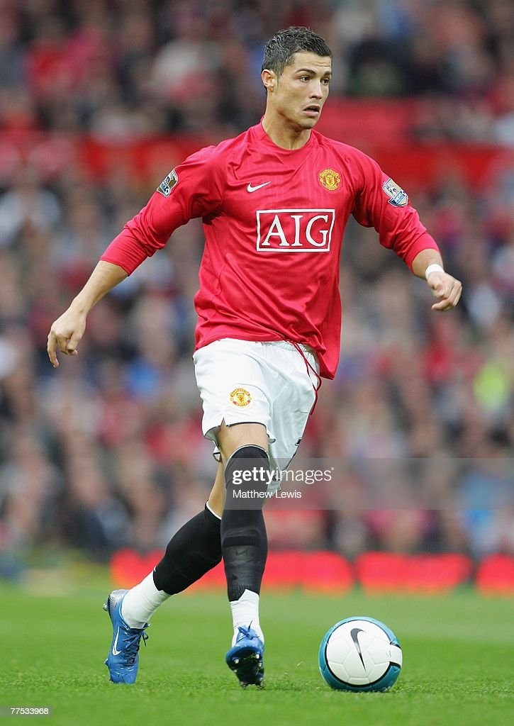 Cristiano Ronaldo of Manchester United in action during the Barclays Premier League match between Manchester United and Middlesbrough at Old Trafford on October 27, 2007 in Manchester, England.
