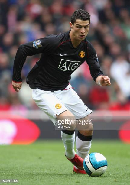 Cristiano Ronaldo of Manchester United in action during the Barclays Premier League match between Middlesbrough and Manchester United at the...