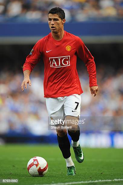 Cristiano Ronaldo of Manchester United in action during the Barclays Premier League match between Chelsea and Manchester United at Stamford Bridge on...