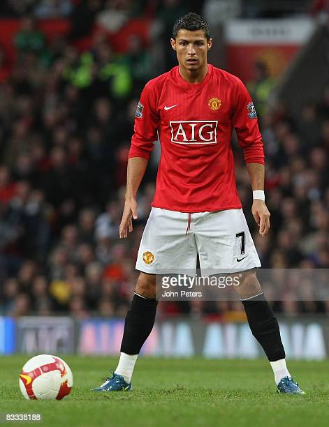 Cristiano Ronaldo of Manchester United in action during the Barclays Premier League match between Manchester United and West Bromwich Albion at Old...